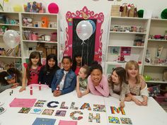 Lauren was so excited to have a crafty birthday party in the shop with her friends.  Look what they made!