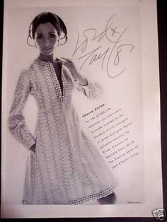 Malcolm Starr by Elinor Simmons Mannequin Alberta Tiburzi. 70s Fashion, Vintage Fashion, Fashion Outfits, Little Dresses, Lord & Taylor, Beautiful Dresses, 1960s, Vintage Outfits, Short Sleeve Dresses