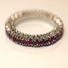Unique Wedding Bands, Eternity Ring, Pink Sapphire, Moissanite, Black Gold, Diamonds, Jewels, Stone, Yellow