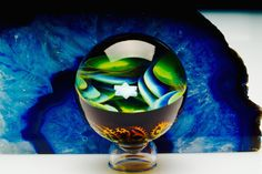 Northern Lights Golden-Filigree Space Marble $ 535
