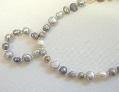 Freshwater pearls, Pearl necklace, Pearl jewellery, Cultured pearls