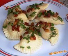 Bryndzové pirohy Gnocchi, Pie Recipes, Potato Salad, Fitness, Favorite Recipes, Meals, Chicken, Dinner, Cooking
