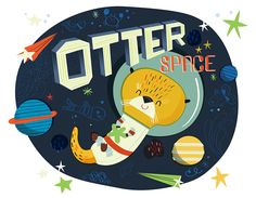 Otter Space by Storybookville on Etsy