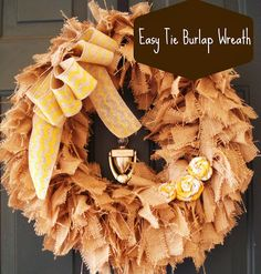 Barksdale Blessings: Easy Burlap Wreath
