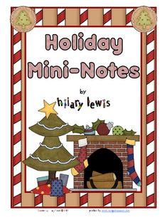 Free Holiday Mini-Notes