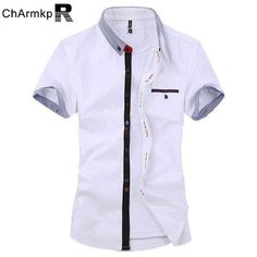 f8e913227e Mens Stripe Cotton Summer Casual Fashion Shirts - Banggood Mobile Hombres