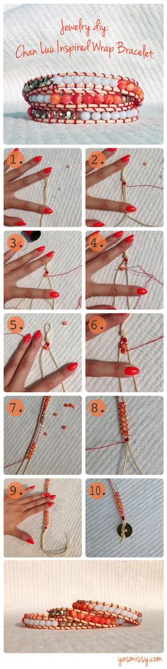 [orginial_title] – Hannah Kelly DIY Jewelry: Chan Luu Bracelet Tutorial 9 Effortless To Make DIY Boho Accessories Boho Jewelry, Jewelry Crafts, Beaded Jewelry, Jewelery, Beaded Bracelets, Diy Bracelet, Diamond Jewelry, Diamond Rings, Wrap Bracelets