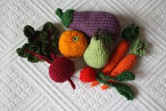 Fruits and veggies toy set  RESERVED  Custom by Walnuttreebuttons