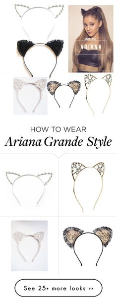 Cat Ears Headband As Seen On Ariana Grande Pretty Pearl