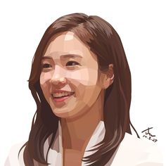 Yewon-Jang, an announcer in SBS. Traced by Photoshop. 15cm X 15cm