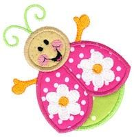 Little Ladybug Applique Design