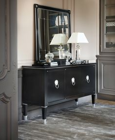 Haussmann Large Sideboard, ref.DN003 Style Français, Large Sideboard, Things To Buy, Stuff To Buy, Entryway Tables, Dining Room, Cabinet, Storage, Furniture