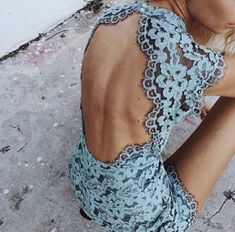 Dress: blue pastel backless backless date night
