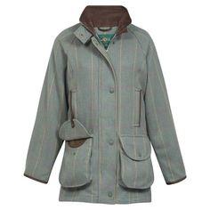 d5659ca1304f0 Alan Paine Compton Ladies Coat - Seagreen Tweed Shooting Jacket, Tweed Coat,  Waterproof Coat