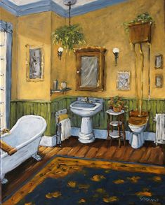 victorian bathroom photos | Victorian Bathroom By Prankearts Painting