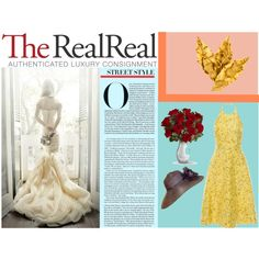 Summer Party Dressing With The RealReal: Contest Entry by unicornslifeever on Polyvore featuring Giambattista Valli, DOMINIQUE AURIENTIS and Voi Jeans