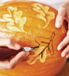 elegent pumkin carving | The Prettiest Pumpkins of All: Elegant Pumpkin and Gourd Craft Ideas