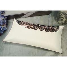 DD D'Lusso Designs White Rectangular Platter