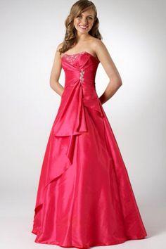 Reddish-pink semi-slim gorgeous dress
