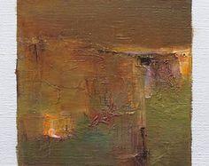5 mai 2017 peinture - abstrait peinture à l'huile - 9 x 9 (9 x 9 cm - environ 4 x 4 pouces) avec 8 x 10 pouces mat