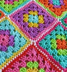 beautiful joining on these granny squares