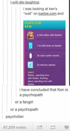 What makes it even creepier is the fact both Ken and Barbie were named after the creator's kids.