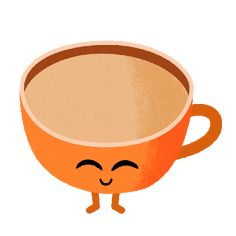 The cutest cappuccino to help you get through the rest of your Monday! Cute Good Morning Gif, Lovely Good Morning Images, Good Morning Coffee, Good Morning Good Night, Coffee Gif, Coffee Love, Hot Coffee, Love Heart Gif, Happy Gif