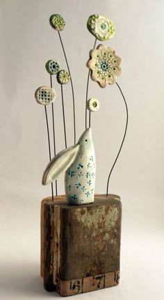 ... hare and flowers ... shirley vauvelle ...