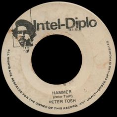 """7"""" - 1980 - 0370A - 9123B - Peter Tosh : Hammer - Cant Blame The Youth - Intel Diplo HIM"""