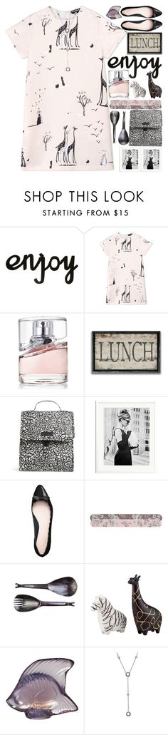 """Lunch time"" by grozdana-v ❤ liked on Polyvore featuring Rochas, HUGO, Vera Bradley, Sonic Editions, Kate Spade, Paul & Joe Beaute, Lalique and Tiffany & Co."