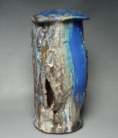 eduardo Contstantino Matière grès et bleu de cuivre ! Stoneware and copper blue. Cone 10.