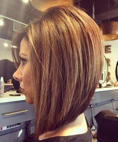 Brown Layered Lob #BobCutHairstylesLong