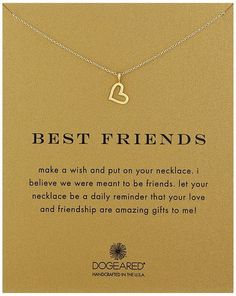 Best Friends Gold Heart Necklace (gifts for best friends)