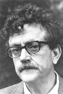 Kurt Vonnegut 1972.jpg.  Vonnegut described himself variously as a skeptic,[63] freethinker,[64] humanist,[64] Unitarian Universalist,[65] agnostic,[63] and atheist.[66].