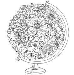 Trendy Ideas Embroidery Patterns Tree Printables Mandala Coloring Pages Coloring Pages For Grown Ups, Coloring Book Pages, Printable Coloring Pages, Coloring Sheets, Flower Coloring Pages, Zentangle, Mandala Coloring, Digi Stamps, Free Coloring