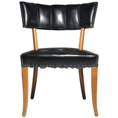 Vintage Grosfeld House Desk or Occasional Chair / Style Robsjohn Gibbings | From a unique collection of antique and modern office chairs and desk chairs at https://www.1stdibs.com/furniture/seating/office-chairs-desk-chairs/