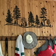 Metal Tree Hillside Metal Wall Art Trees Metal Trees Metal | Etsy Finishing Nails, Patio Wall, Metal Tree Wall Art, Sunflower Flower, Flower Wall, Custom Items, Metal Walls, Wall Art Decor, Art Pieces