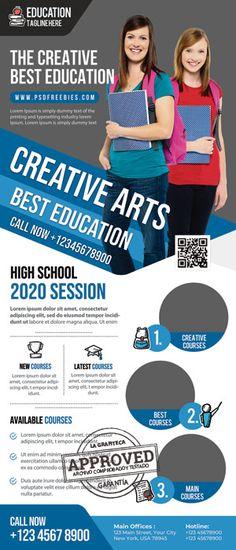Recopilación de RollUp Banners formato PSD de Photoshop. 100% gratuitos y listos para imprimir. Diseños realmente buenos 😉 High School, Photoshop, Education, Creative, Display Stands, Free Stencils, Web Development, Studio Apartment Design, Cool Art