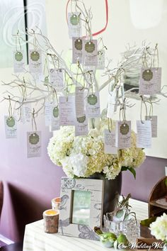 DIY Rustic Wedding Wish Tree