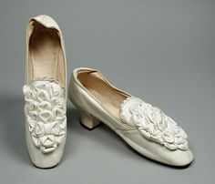 Pair of Woman's Shoes | LACMA Collections Europe, circa 1885 Costumes; Accessories Leather Overall: 3 7/8 x 2 3/8 x 8 7/8 in. (9.8425 x 6.0325 x 22.5425 cm)
