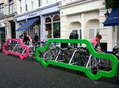Des appui vélo originaux !