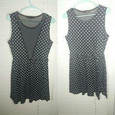 Pin up poladot dress Black and white pin up looking dress Dresses Midi