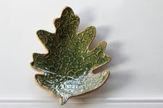 Large Textured Leaf Dish via Etsy by Miss Pottery