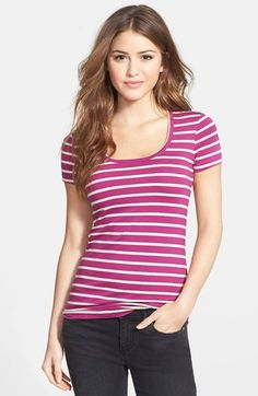 Caslon® Short Sleeve Scoop Neck Tee (Regular & Petite) available at #Nordstrom