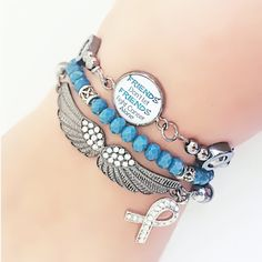 A personal favorite from my Etsy shop https://www.etsy.com/listing/505593883/ovarian-cancer-awareness-bracelet