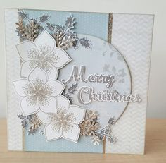 Todays card has been made for my mum and dad using the Stamps by Chloe Christmas Rose. Mum has lots of these in her garden and I thought it . Die Cut Christmas Cards, Christmas Card Crafts, Homemade Christmas Cards, Christmas Rose, Xmas Cards, Handmade Christmas, Crafters Companion Christmas Cards, Chloes Creative Cards, Stamps By Chloe