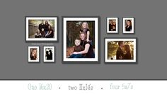 Daisy Jean Photography created this wall display guide using different sized photos. LOVE it, and her photos.