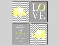 Elephant Nursery Wall Art  Baby Boy Chevron by inkspotsgallery, $45.00 loving the chevron white and gray