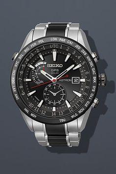 Seiko Astron Solar GPS Titanium Ceramic Watch SAST015
