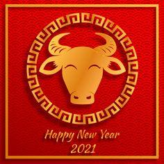 Chinese new year 2021 year of the ox , r...   Premium Vector #Freepik #vector Chinese New Year Design, Chinese New Year Crafts, Chinese New Year Background, New Years Background, Chinese New Year Greeting, New Year Greeting Cards, Happy Lunar New Year, Happy Chinese New Year, Yin Yang